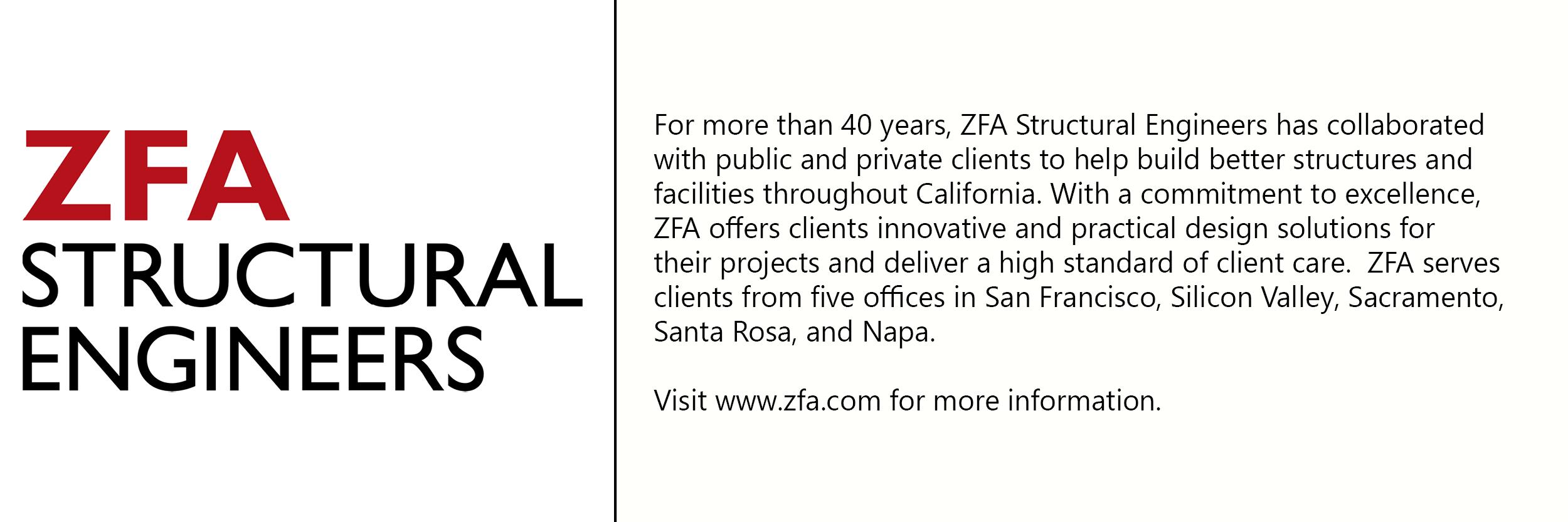 ZFA logo with description of company