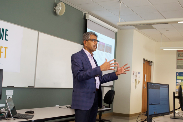 Milton Carrasco, CEO, spoke to students at training