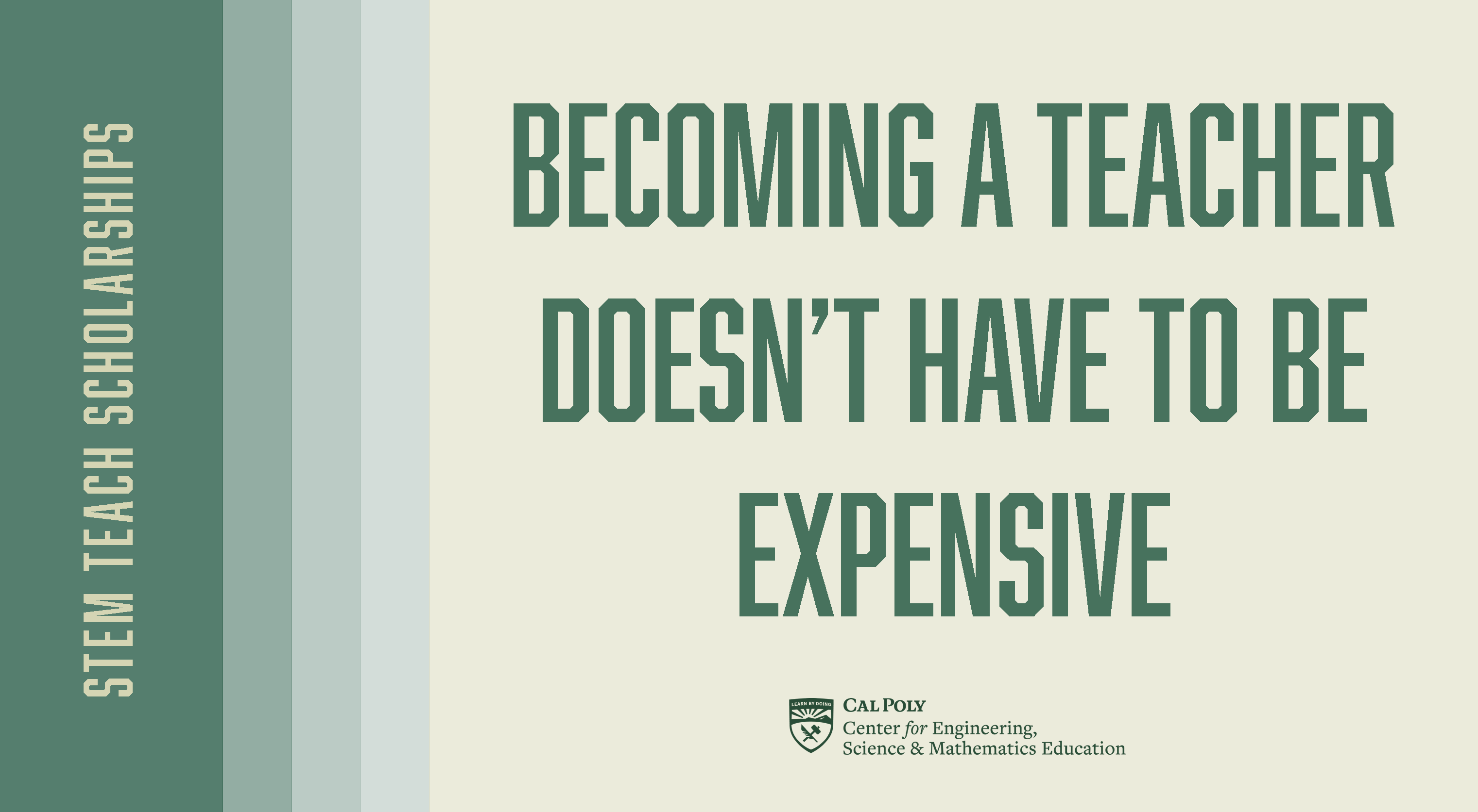 Becoming a teacher doesn't have to be expensive