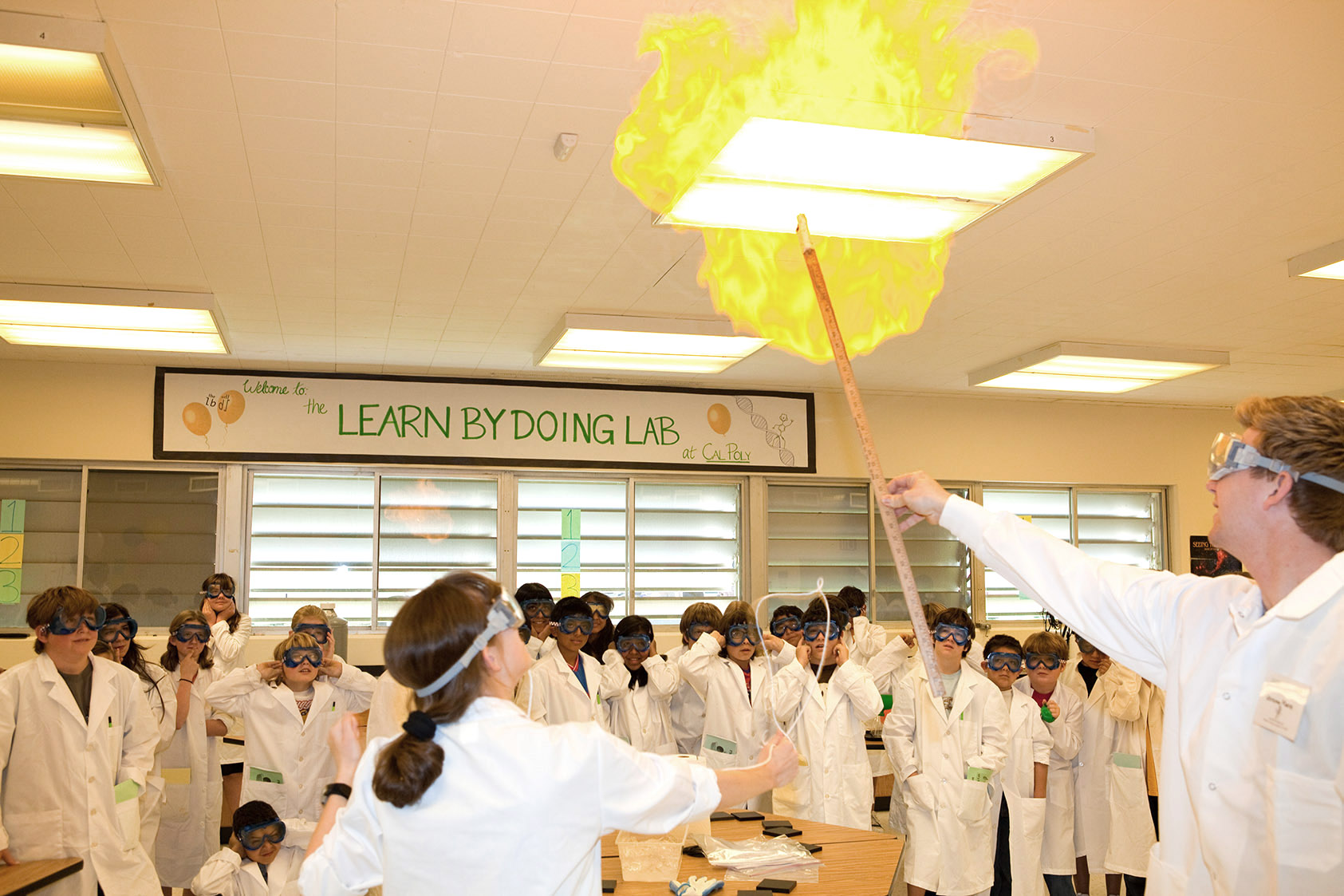 Image of Learn by Doing lab activity- an experiment with fire.