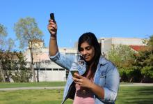 Journalism senior Gurpreet Bhoot incorporates 360-degree photography into her  reporting for Mustang News
