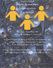 CET's First Digital Humanities Collaborative Reception November 8th