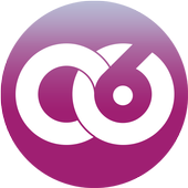 Circle of 6 friends and family contact phone app icon