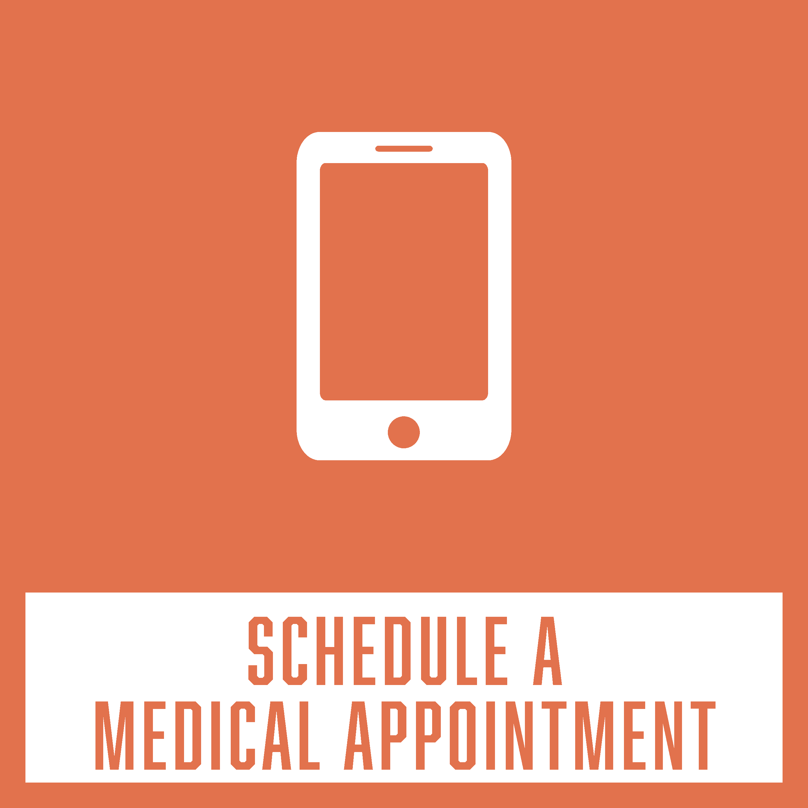 Webpage tab to schedule a medical appointment with Campus Health & Wellbeing