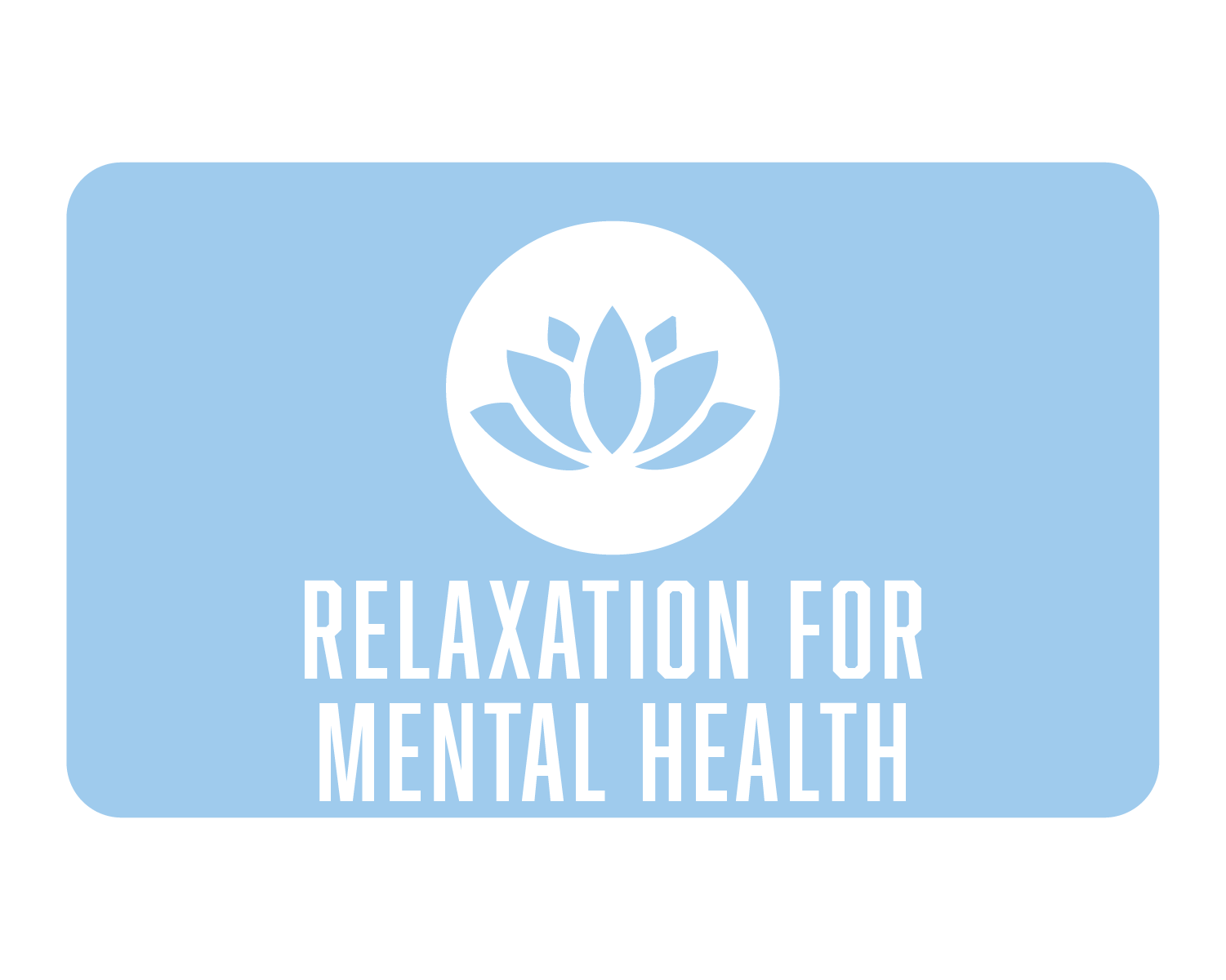 Relaxation for mental health icon