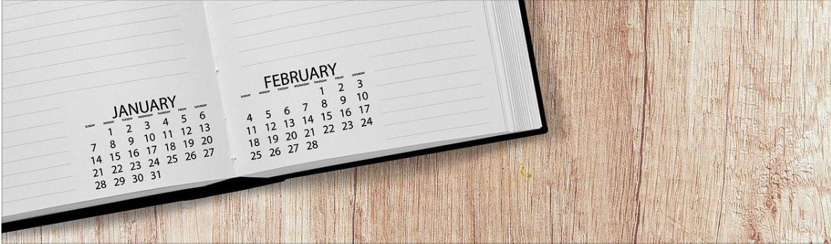 Calendar in a notebook