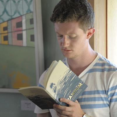 Student reading Byzantium