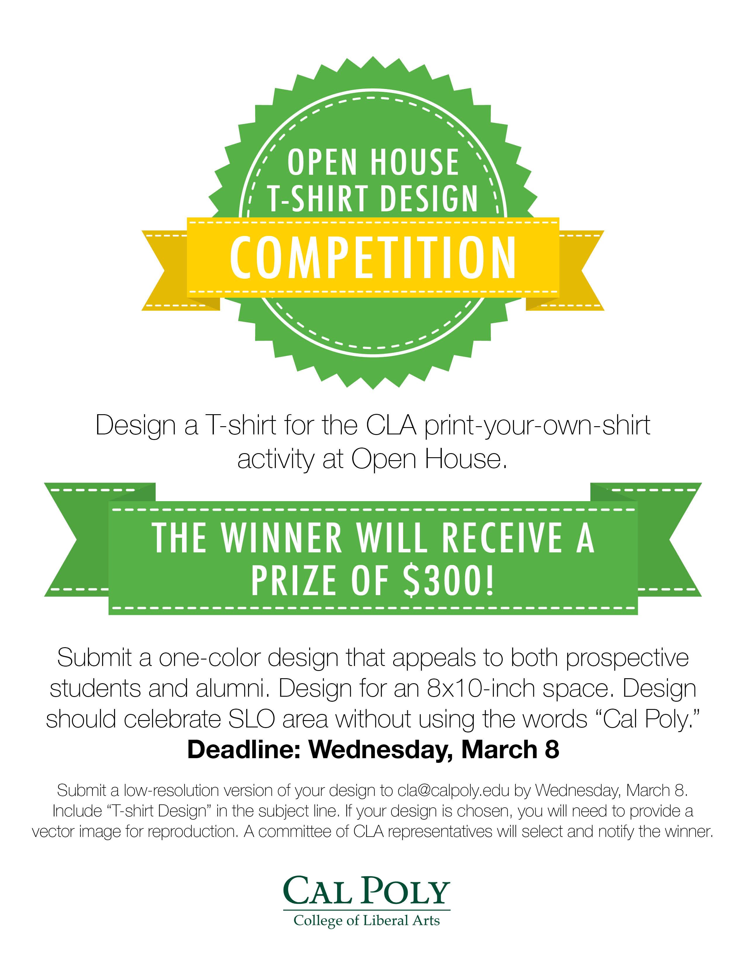 Shirt design resolution - Open House T Shirt Design Competition
