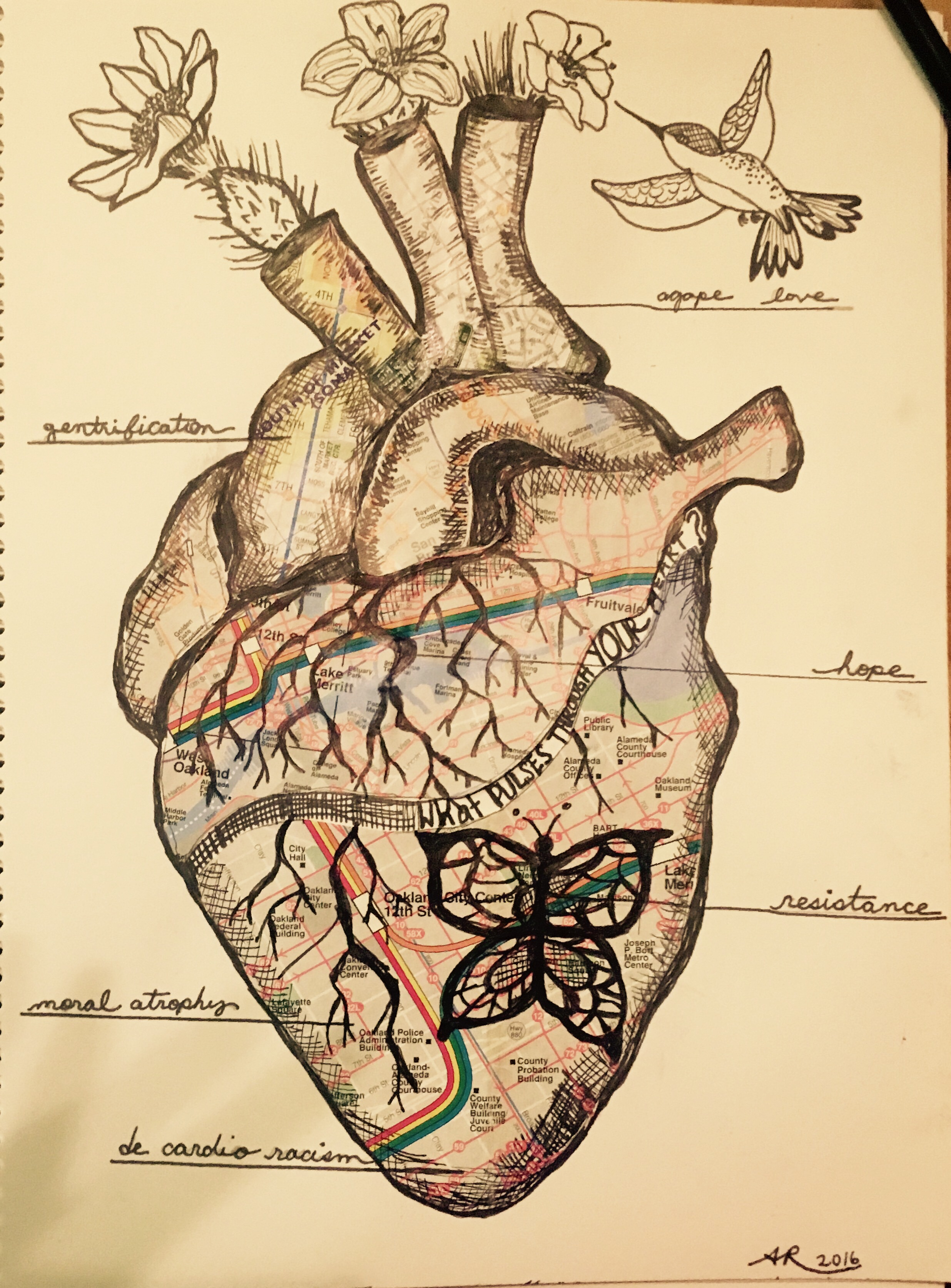 Anna Ríos-Rojas' heart artwork