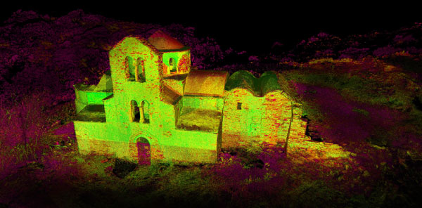 Laser scan for virtual reality