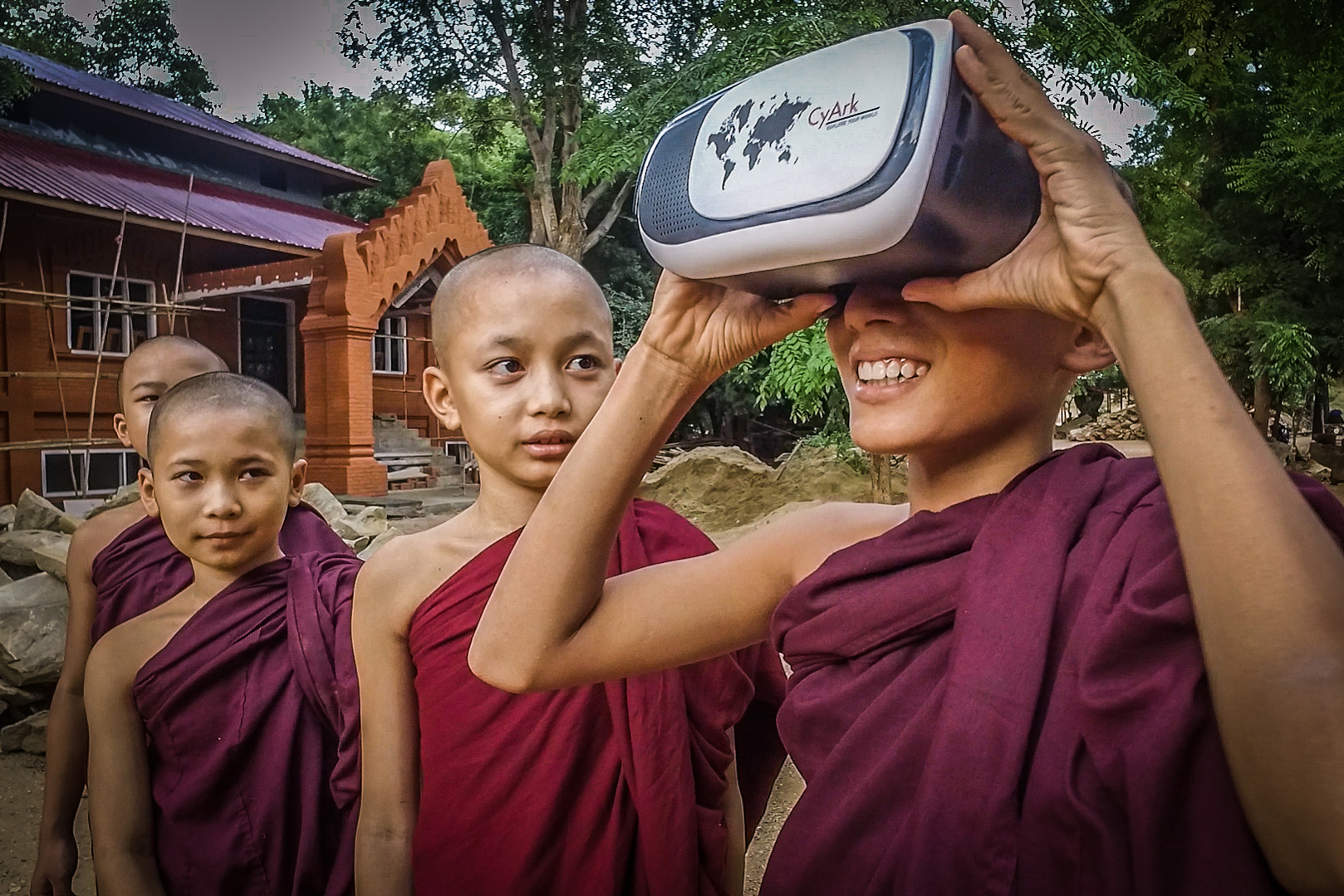 Monks Using Cal Poly CLA Virtual Reality