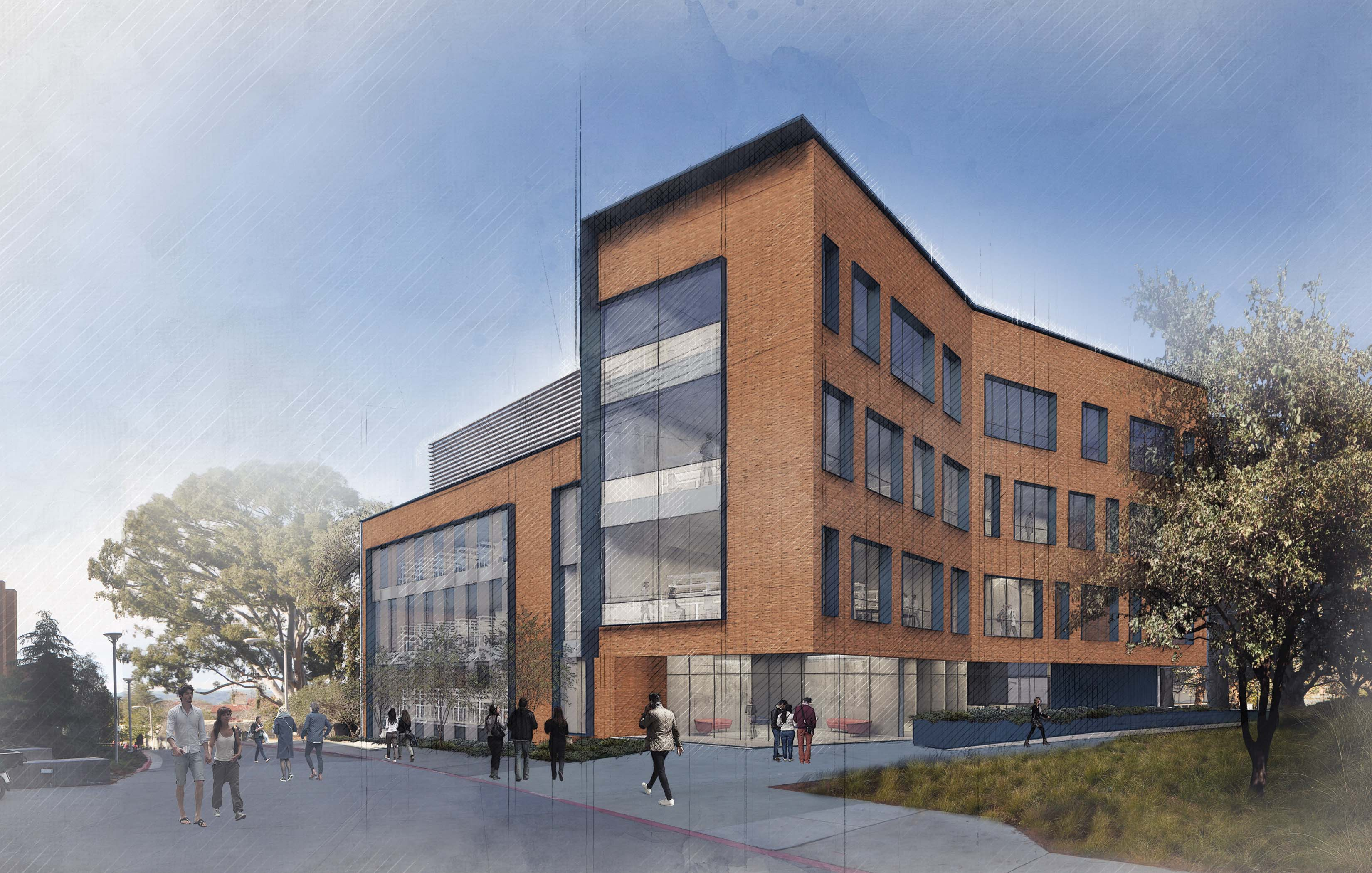 Rendering of new interdisciplinary building