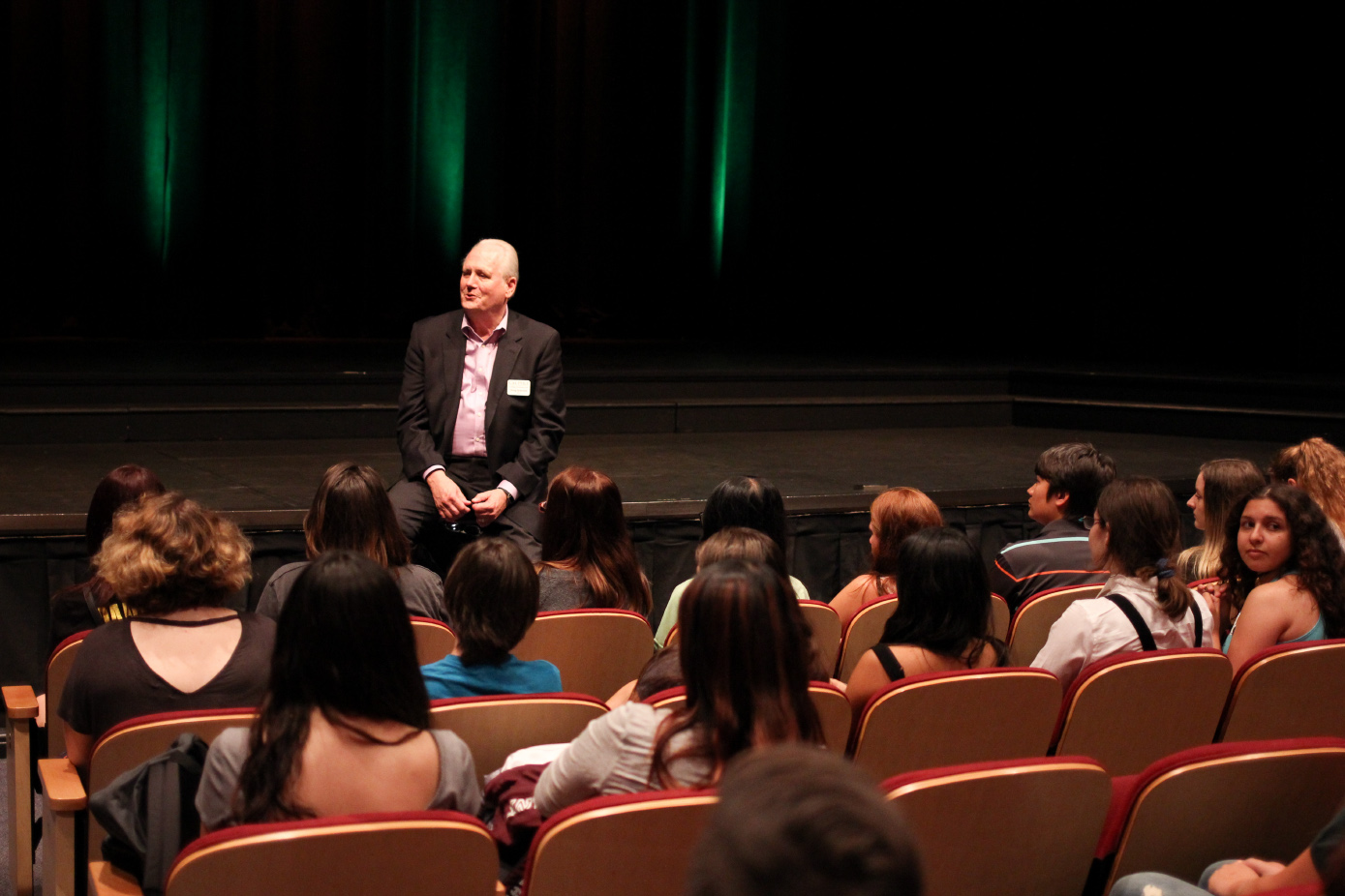 The dean welcomes students to an event celebrating diversity