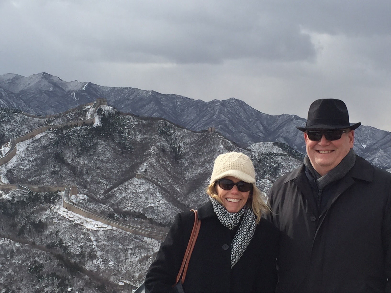English Department Chair Kathryn Rummell and Epperson during a 2016 visit to China to explore study abroad opportunities