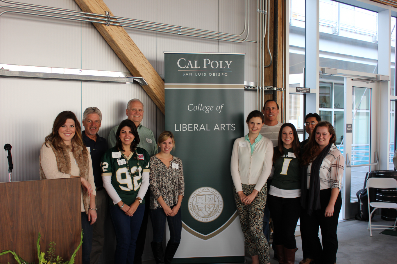 Epperson with CLA alumni during Homecoming Weekend 2014