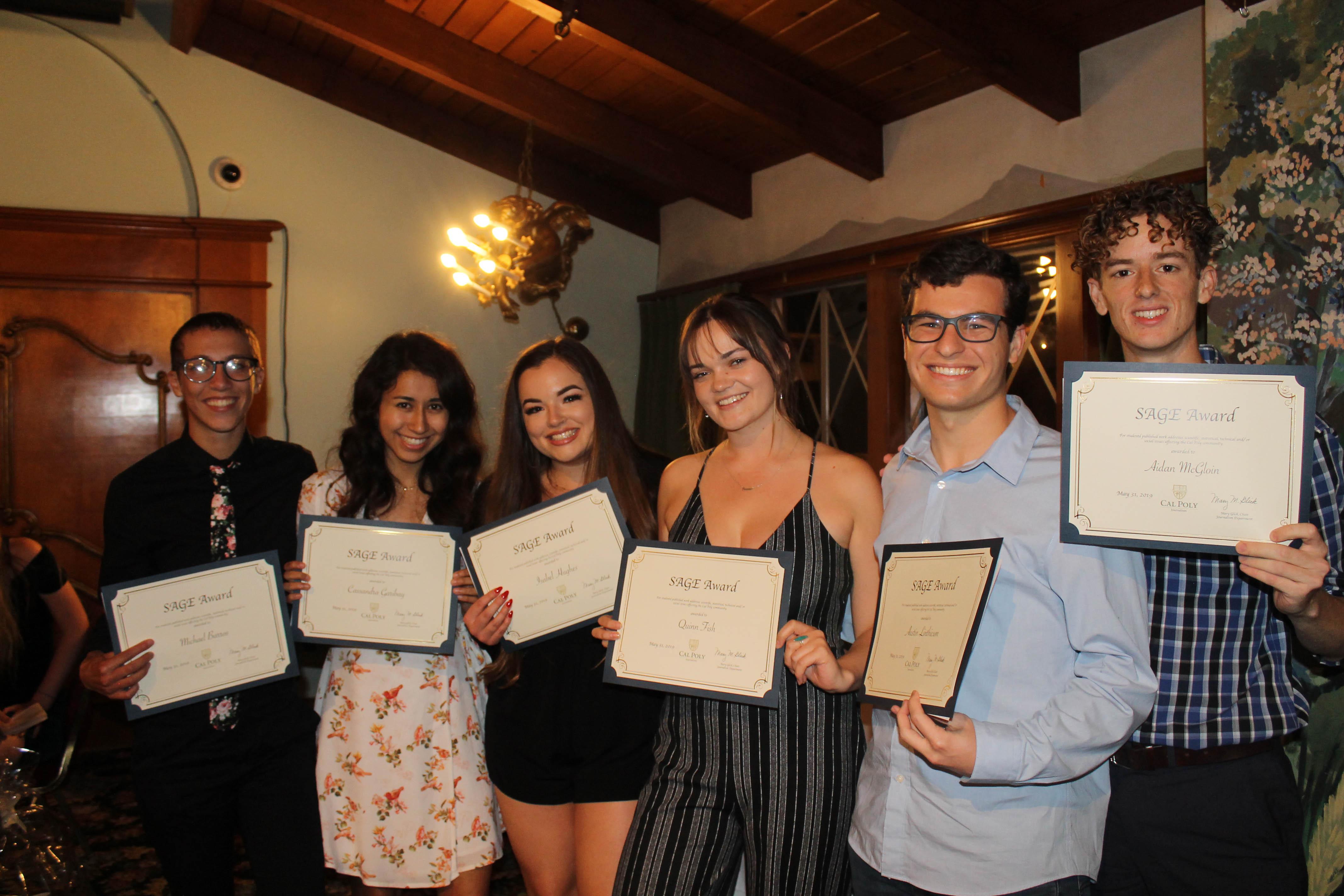 SAGE Publishing awardees