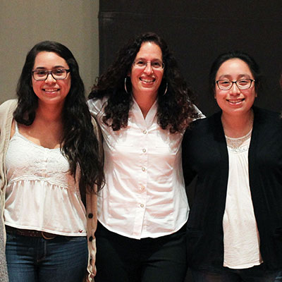 Visiting Professor, Gilda Ochoa, with students