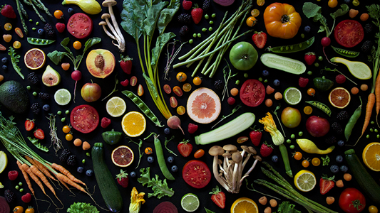 Sumptuous produce from the SLO Farmers' Market Cookbook.