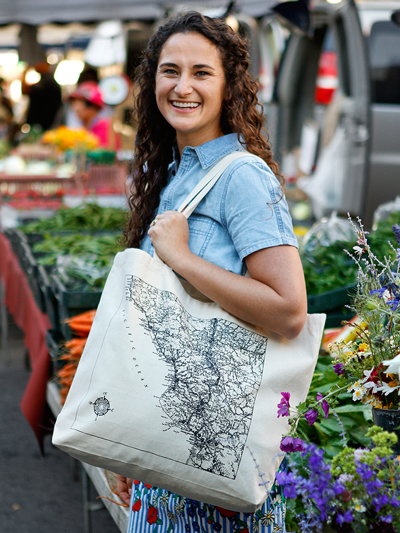 Modern Languages & Literatures alumna Kendra Aronson out shopping at SLO Farmers' Market.