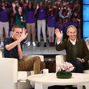 Wyatt Oroke, History Alumnus Recognized on the Ellen Show