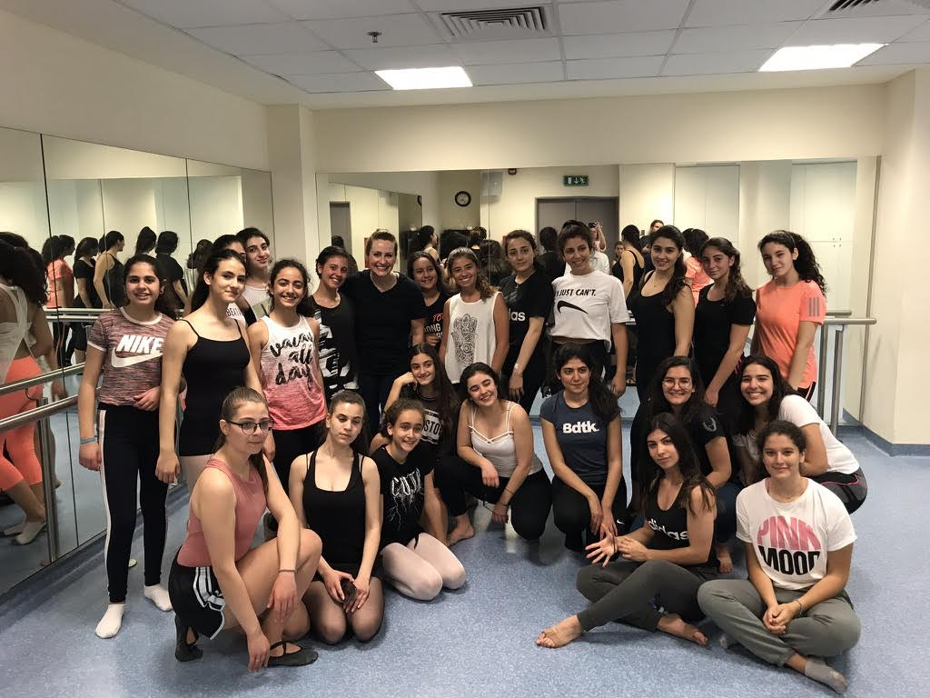 Christy Chand with International Dance Day Festival students in Lebanon