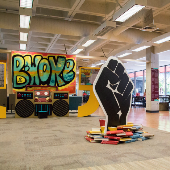 Hip Hop Exhibit in Kennedy Library