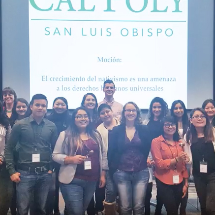 Cal Poly Spanish-language Civic Debate Team at Los Legados de Valladolid