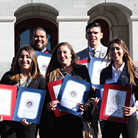 CLA students honored at state capitol