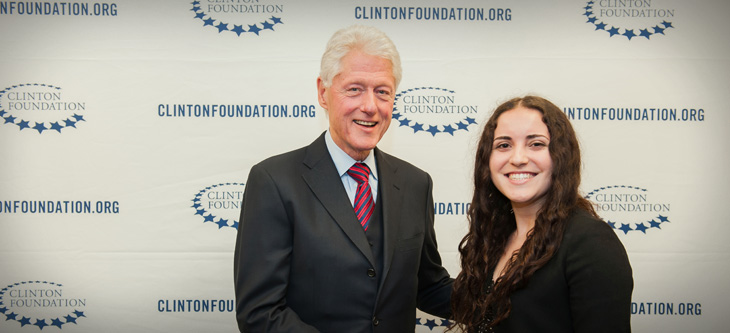 LAES major interns at Clinton Foundation