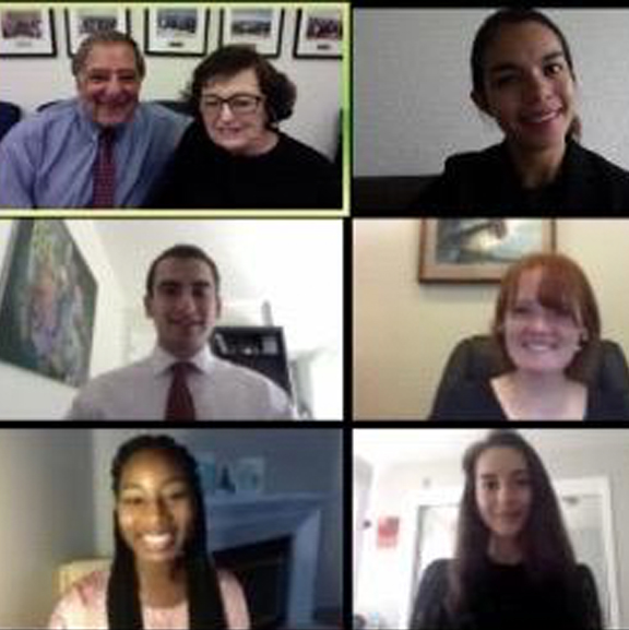 Panetta Interns on Zoom