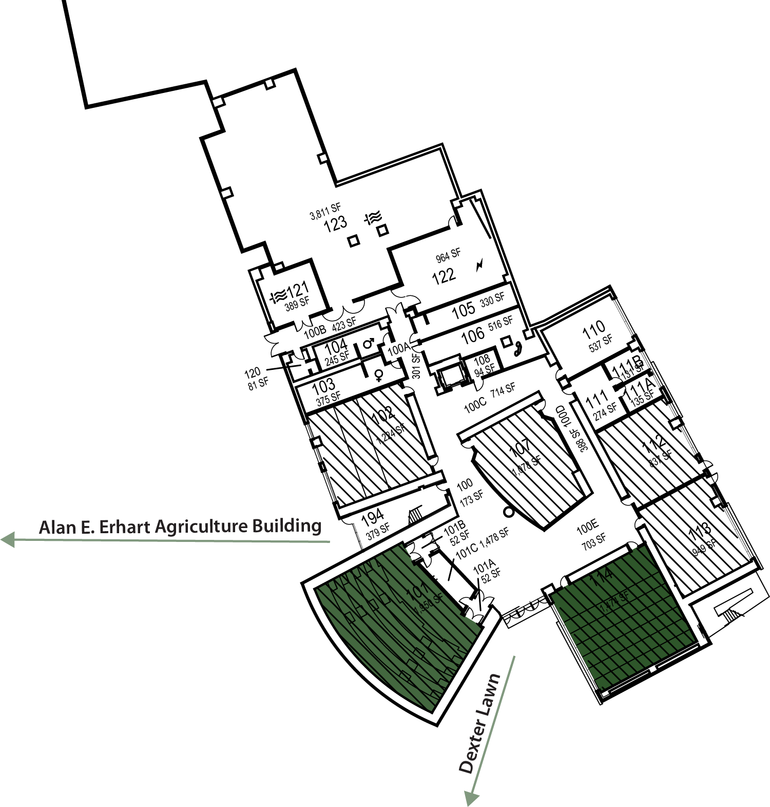 Warren J Baker Center for Science and Math Floor Plan