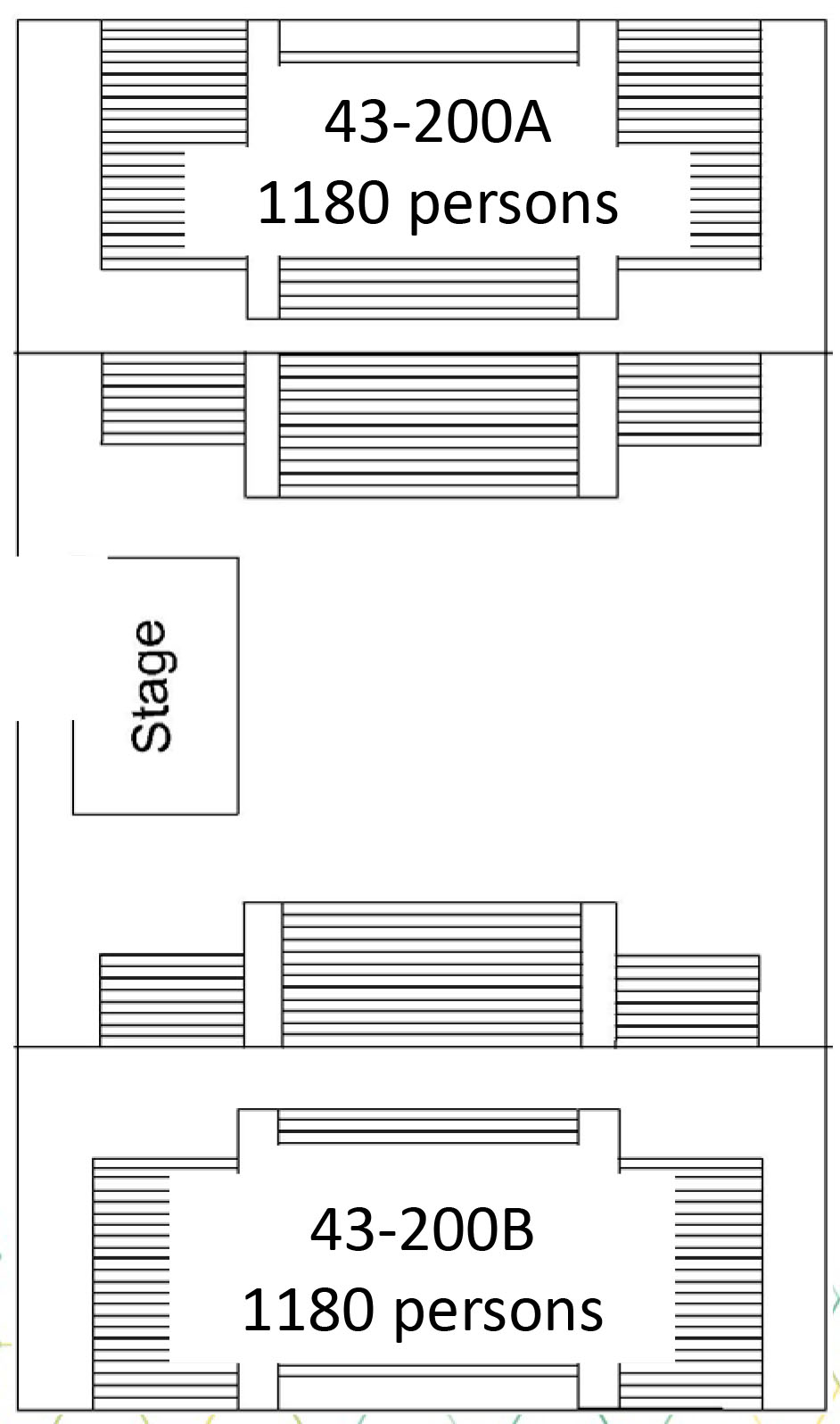 North & South Gym Floor Plan