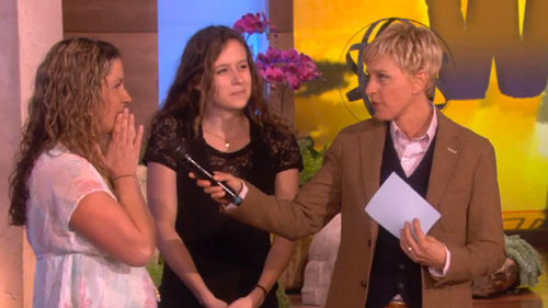Lindsay Zibach in her job on the Ellen DeGeneres Show