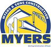 Myers and Sons Construction Logo