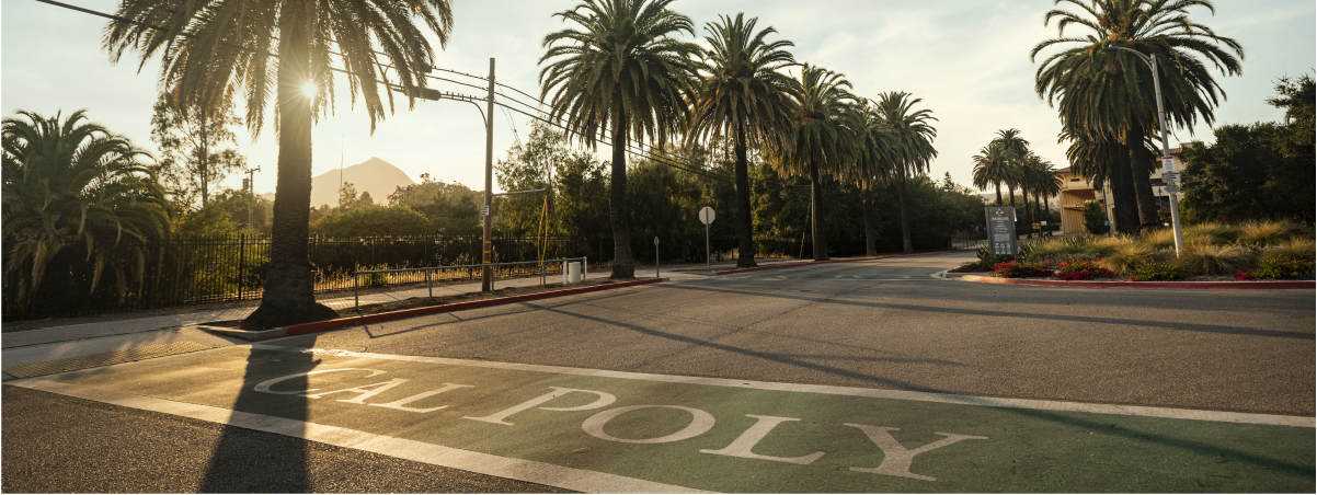 Image of the Cal Poly Entrance