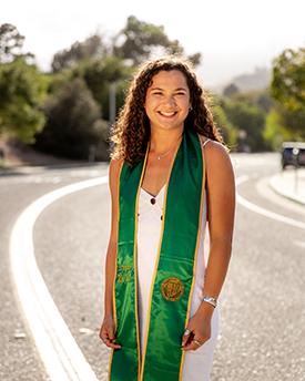 A graduation photo of Abigail McIntyre.