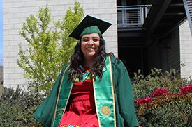 A graduation photo of Cecilia Guzman.