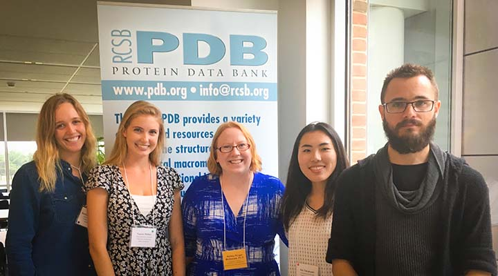 Image. Students at Protein Databank workshop at Rutgers University