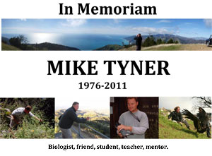 Memorial Flyer with Photos of Mike Tyner