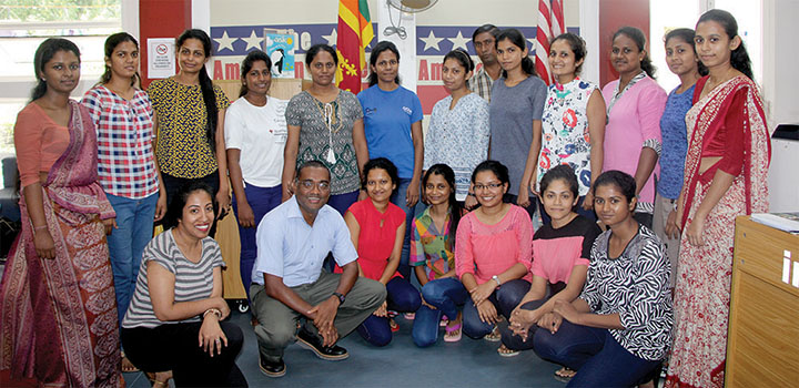 Rajakaruna with instructors from the Botany Department at the University of Peradeniya, Sri Lanka, and staff from the U.S. Embassy in Sri Lanka
