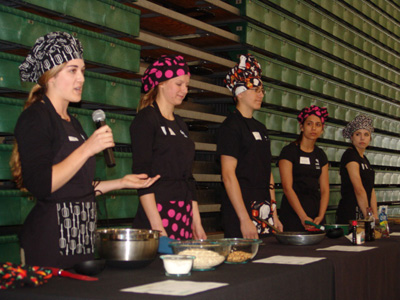 Panelist of woman in chef hats