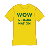 WOW welcome to the Mustang Nation shirt