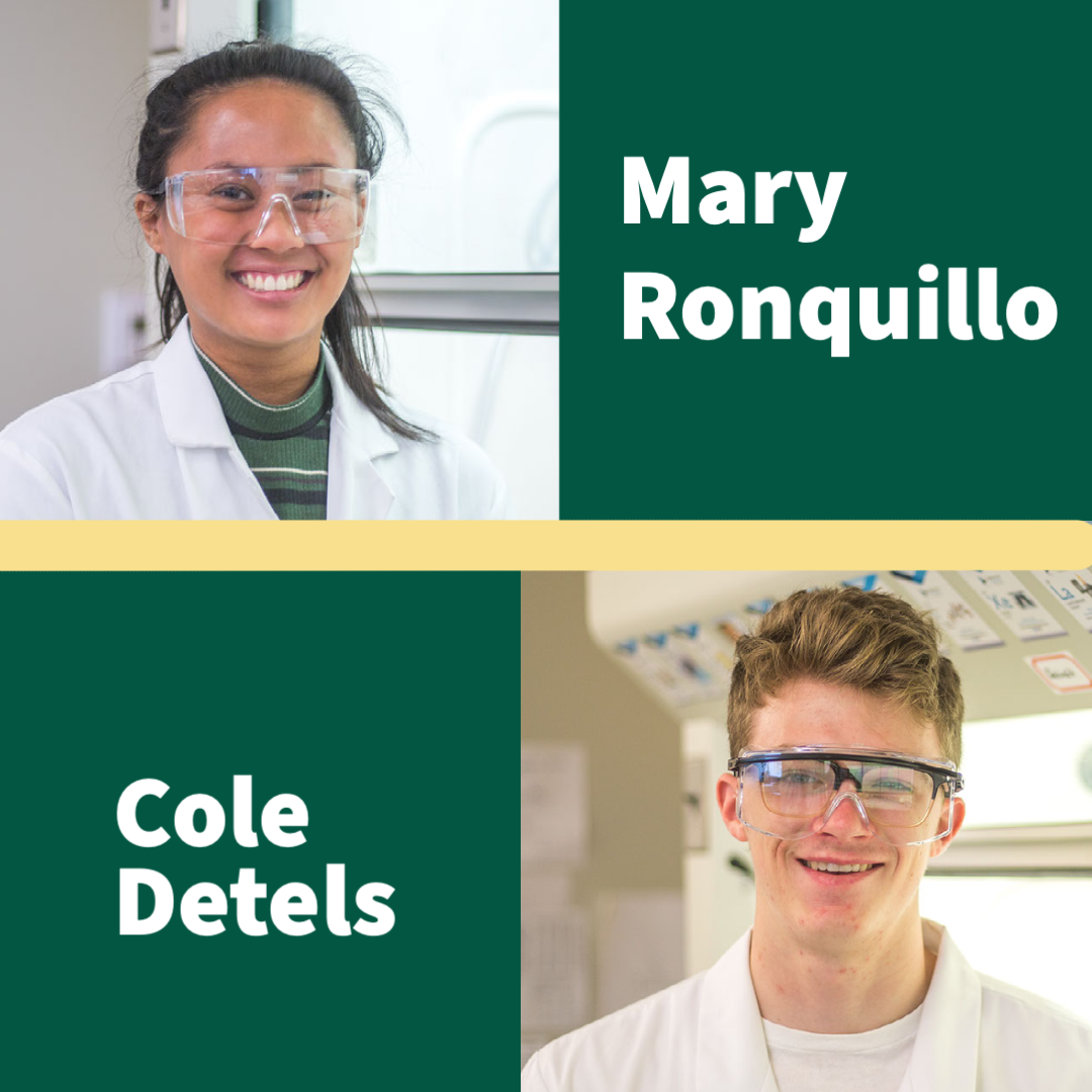 Biology Students Mary Ronquillo and Cole Detels featured at ACS Conference for Pharmaceutical Research.