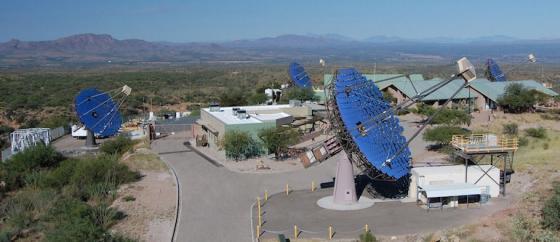 VERITAS telescope array landscape