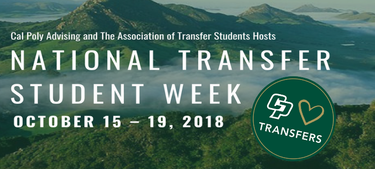 Cal Poly Advising and the Association of Transfer Students Presents National Transfer Student Week