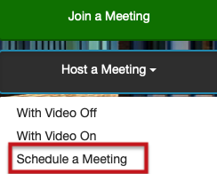 ZOOM Join a Meeting & Host a Meeting Dialog Box