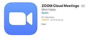 ZOOM iCloud Meetings App Icon in App Store