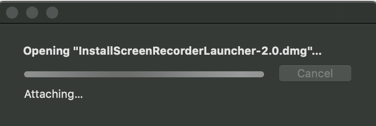 Opening Install Screen Recorder Launcher.dmg