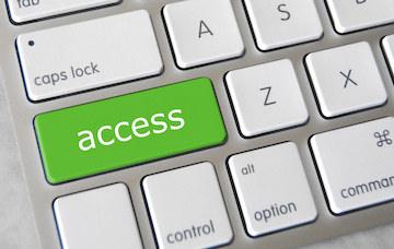 Access key on computer keyboard