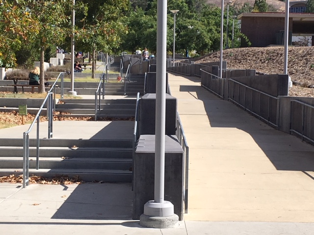 Cal Poly stairs and ramp